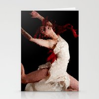 dancer Stationery Cards featuring Dancer by Vetii