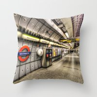 velvet underground Throw Pillows featuring Underground by David Pyatt