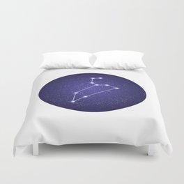Leo zodiac constellation Duvet Cover
