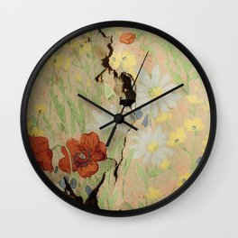 wall crack Wall Clock