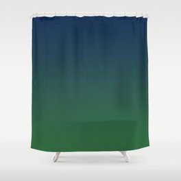 Blue-green Ombre Shower Curtain