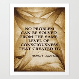 No Problem... Albert Einstein Art Print