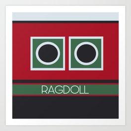 Ragdoll Boat Art Print