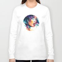 agnes Long Sleeve T-shirts featuring sheets of colored glass by agnes-cecile