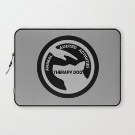 Animal Assisted Activities  - THERAPY DOG logo black white Laptop Sleeve