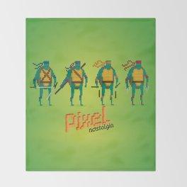Ninja Turtles - Pixel Nostalgia Throw Blanket