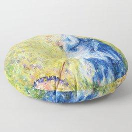 Pierre-Auguste Renoir - Woman Picking Flowers - Digital Remastered Edition Floor Pillow