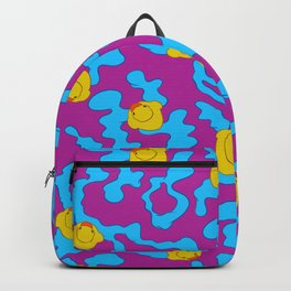 Rubber ducks on purple Backpack