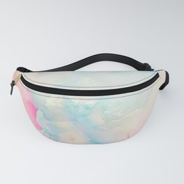 Watercolor abstract many colors  no.08 Fanny Pack