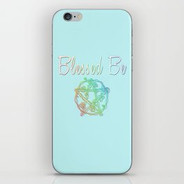 Blessed be with pentacle iPhone Skin