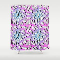... Shower Curtain · Gnarly Retro Memphis Throwback Pattern Print 1980s 80  S Style Minimal Modern Pop Art Neon Hipster ...