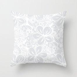 Maui Polynesian Silver Wedding Throw Pillow