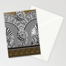 Roman Arches Black Brown Stationery Cards