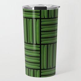 Green metallic pattern Travel Mug