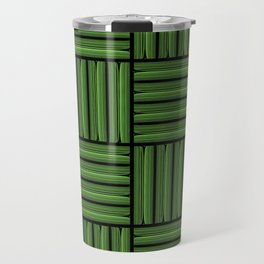 Green metallic pattern Travel Mug