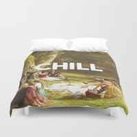 chill Duvet Covers featuring Chill by eARTh