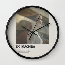 Ex Machina Minimal Movie Poster No 03 Wall Clock