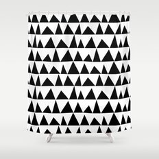Playful triangles Shower Curtain