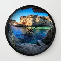 nick cave Wall Clocks featuring Cave by Sjaefashion