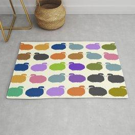 Colorful cartoon sheep pattern Rug