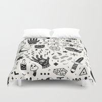 occult Duvet Covers featuring Witchcraft II by LordofMasks