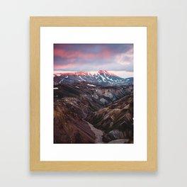 Multicoloured Hills of Landmannalaugar, Iceland Framed Art Print