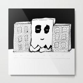 Haunted Industrial Building Metal Print