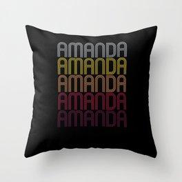 Amanda Name Gift Personalized First Name Throw Pillow
