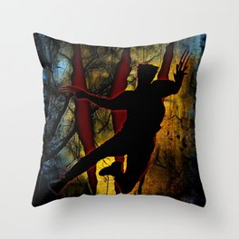 Beast From Backwoods Throw Pillow