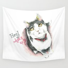 Hey! what's up? Wall Tapestry