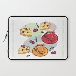 Cherry Pie And A Hot Cup Of Coffee Laptop Sleeve