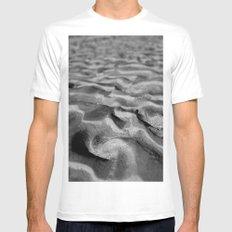 Desert Waves BW Mens Fitted Tee MEDIUM White