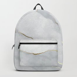 Marble Stone with Gold Accents Backpack