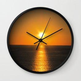 Caribbean Ocean Sunset Wall Clock