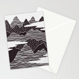 Mountain Peaks Digital Art Stationery Cards