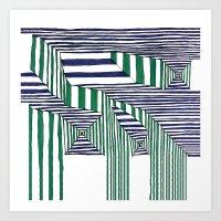 stripes Art Prints featuring Stripes by Take F1ve