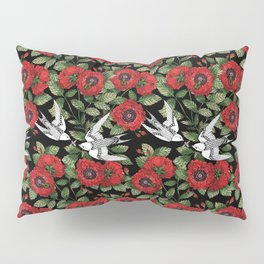 Crimson garden Pillow Sham
