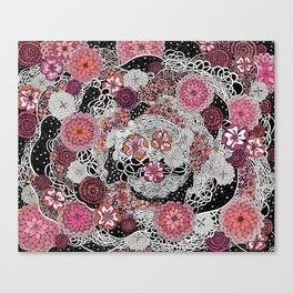 Tangled up in Blooms Canvas Print