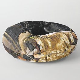 The Death Of Cleopatra Floor Pillow
