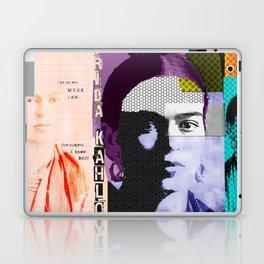 Frida Kahlo Abstract Pop Art Portrait by Michel Keck Laptop & iPad Skin