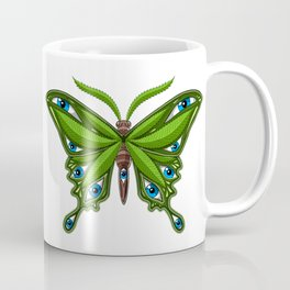 Psychedelic Weed Butterfly Coffee Mug