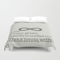 infinite Duvet Covers featuring Infinite by beesp