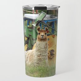 Llama Sitting Travel Mug