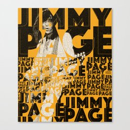 Jimmy Page - Yellow Canvas Print