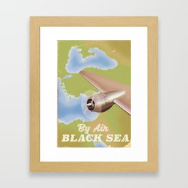 The black sea travel poster Framed Art Print