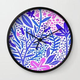 Garden – Indigo Palette Wall Clock