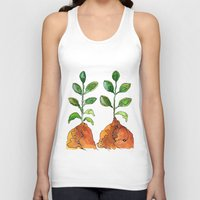 succulents Tank Tops featuring Succulents by Gosia&Helena