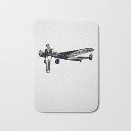 Amelia Earhart with her Airplane Bath Mat