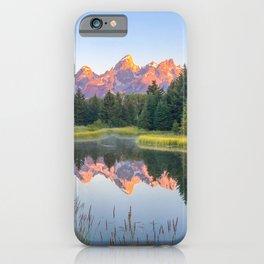 Grand Teton National Park Mountain Range Reflection Sunrise iPhone Case