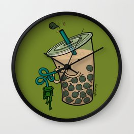 Food Series - Bubble Milk Tea Wall Clock